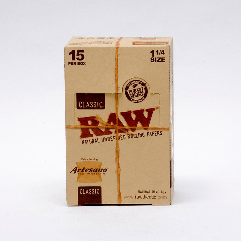 "RAW Artesano 1 1/4"" Rolling Papers + tips box"