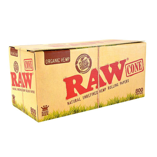 RAW Organic Hemp Pre-Rolled Cones King Size - 800 Count