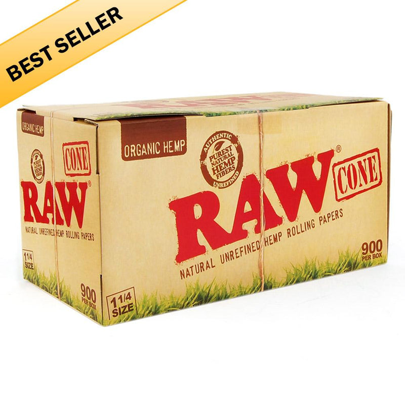 RAW Organic Pre-Rolled Cones 1-1/4 - 900 Count