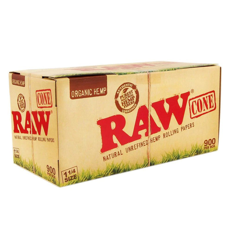 RAW Pre-Rolled Cones | 84mm – Organic Hemp Paper – 900 Count | Smoke Shop Supply | Marijuana Packaging