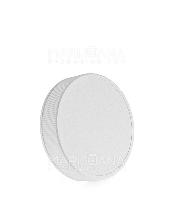 Ribbed Screw Top Caps | 63mm - White Plastic - 36 Count | Dispensary Supply | Marijuana Packaging