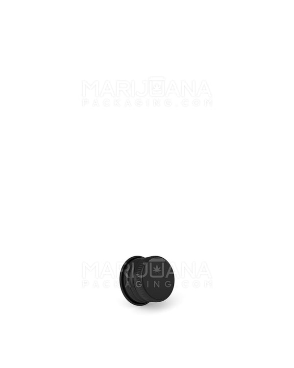 Ribbed Screw Top Caps for Glass Tube | 22mm - Black Metal - 400 Count | Dispensary Supply | Marijuana Packaging