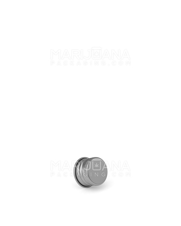 Ribbed Screw Top Caps for Glass Tube | 22mm - Silver Metal - 400 Count | Dispensary Supply | Marijuana Packaging