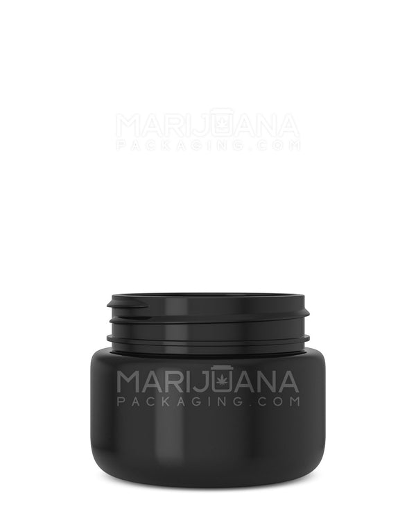 Rounded Base Black Plastic Jars | 53mm - 2.5oz - 600 Count | Dispensary Supply | Marijuana Packaging