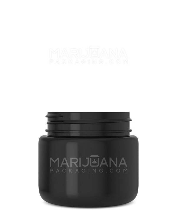 Rounded Base Black Plastic Jars | 53mm - 3.75oz - 600 Count | Dispensary Supply | Marijuana Packaging