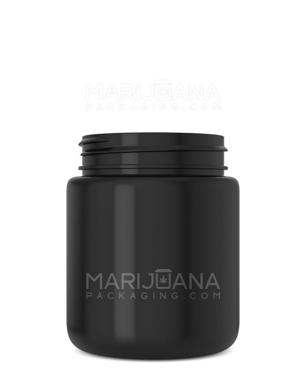 Rounded Base Black Plastic Jars | 53mm – 5oz - 600 Count | Dispensary Supply | Marijuana Packaging