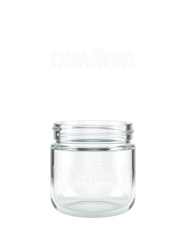 Rounded Base Clear Glass Jars | 53mm - 2.5oz - 32 Count | Dispensary Supply | Marijuana Packaging