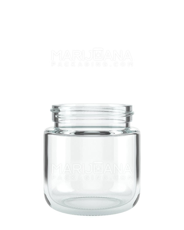 Rounded Base Clear Glass Jars | 53mm - 3.75oz - 32 Count | Dispensary Supply | Marijuana Packaging