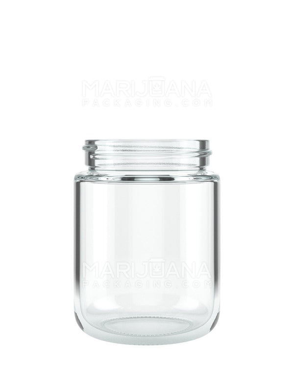 Rounded Base Clear Glass Jars | 53mm – 5oz - 32 Count | Dispensary Supply | Marijuana Packaging