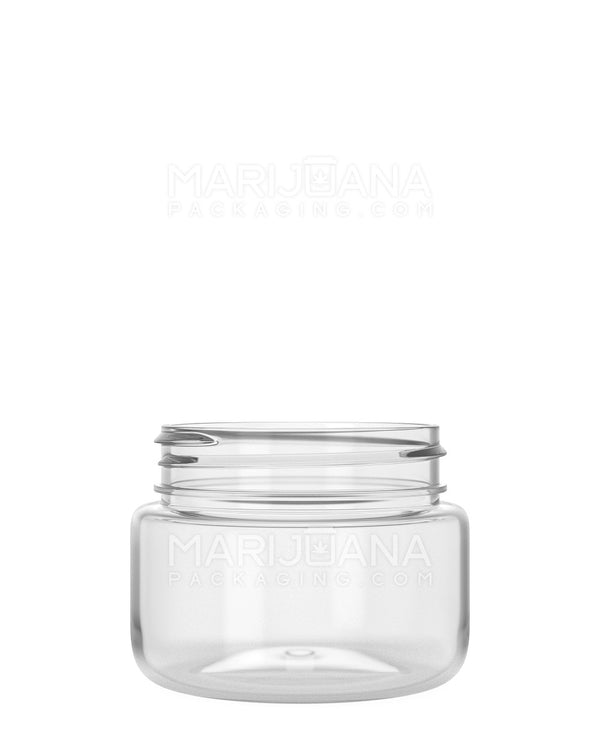 Rounded Base Clear Plastic Jars | 53mm - 2.5oz - 600 Count | Dispensary Supply | Marijuana Packaging