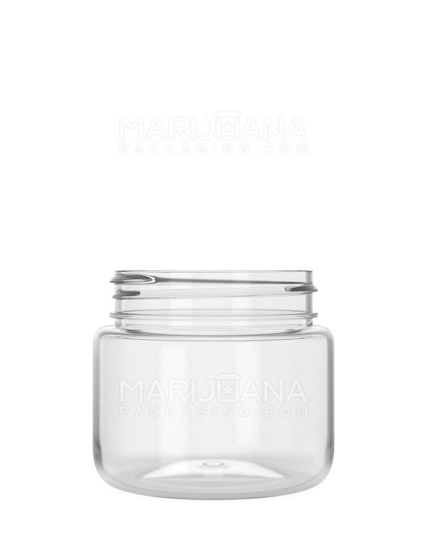 Rounded Base Clear Plastic Jars | 53mm - 3.75oz - 600 Count | Dispensary Supply | Marijuana Packaging