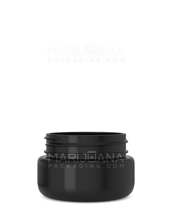 Rounded Base Symmetric Black Plastic Jars | 53mm – 2oz - 800 Count | Dispensary Supply | Marijuana Packaging