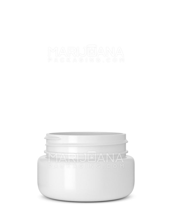 Rounded Base Symmetric White Plastic Jars | 53mm – 2oz - 800 Count | Dispensary Supply | Marijuana Packaging