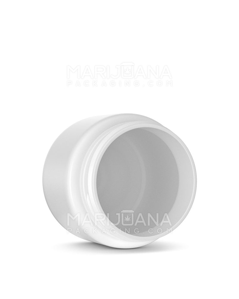 Rounded Base White Plastic Jars | 53mm - 3.75oz - 600 Count | Dispensary Supply | Marijuana Packaging