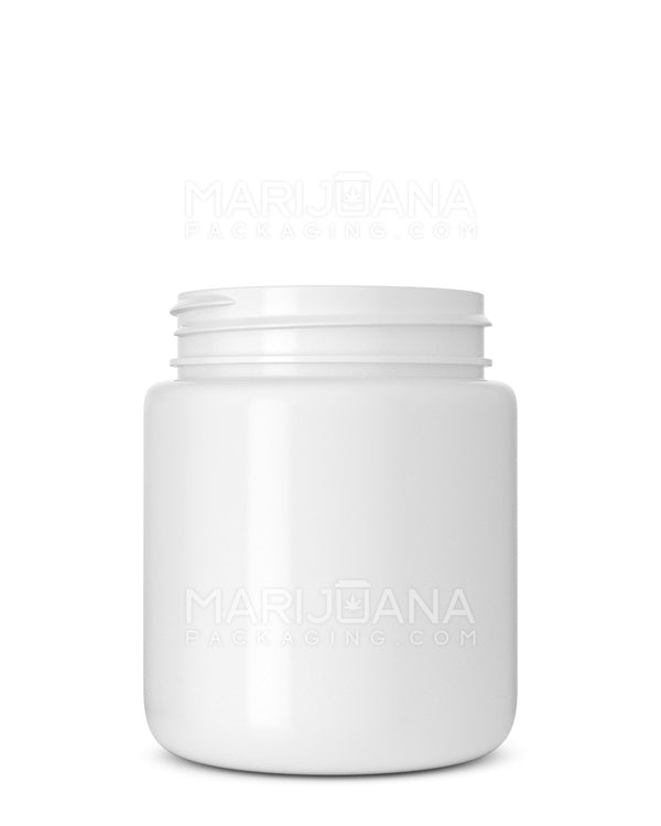 Rounded Base White Plastic Jars | 53mm – 5oz - 600 Count | Dispensary Supply | Marijuana Packaging