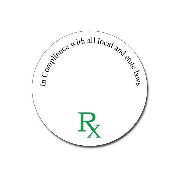 RX Medical Concentrate Container Labels- Qty 250