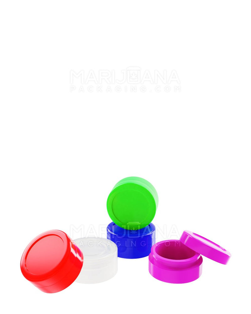Silicone Concentrate Containers Mixed Colors 5ML - 1000 Count | Dispensary Supply | Marijuana Packaging