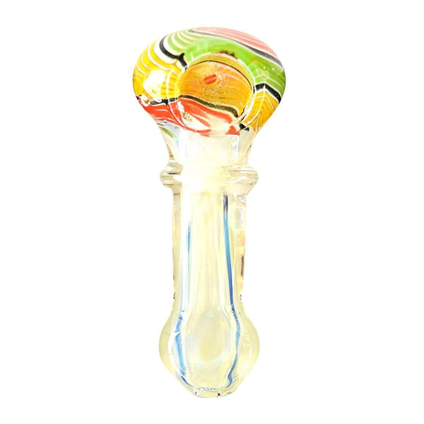 Single Ring Fumed Rasta Hand Pipe 3.5""