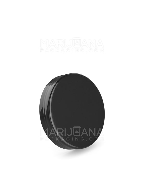 Smooth Screw Top Caps | 53mm - Glossy Black Plastic - 120 Count | Dispensary Supply | Marijuana Packaging