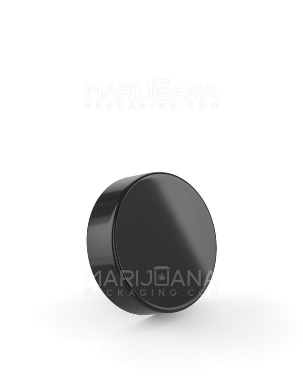 Smooth Sided Screw Top Caps | 38mm - Glossy Black Plastic - 360 Count | Dispensary Supply | Marijuana Packaging