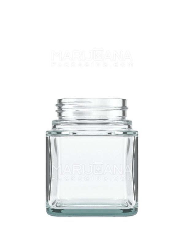 Square Clear Glass Jars | 46mm - 3oz - 80 Count | Dispensary Supply | Marijuana Packaging