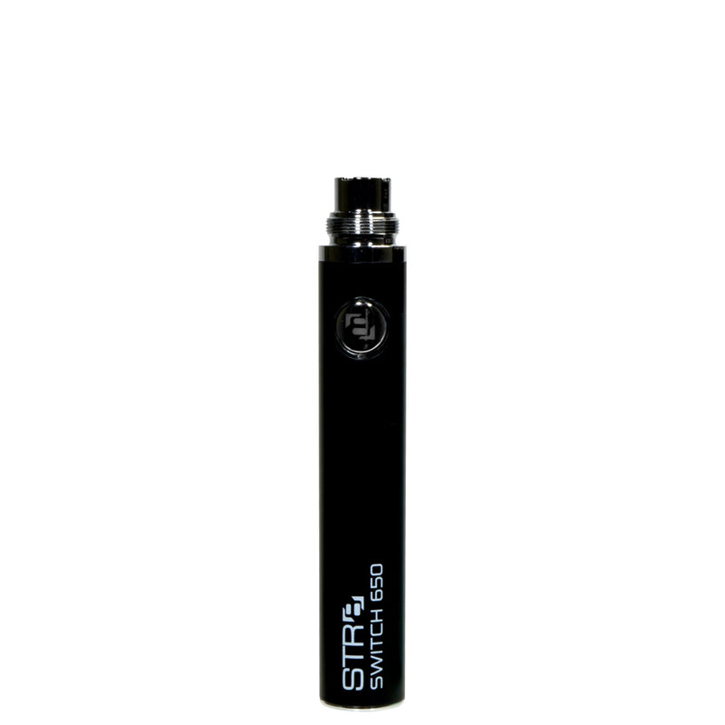 STR8 Switch Evod Vape Battery 650mAh - Black - 5 Count | Dispensary Supply | Marijuana Packaging