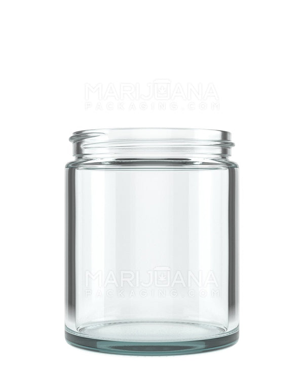 Straight Sided Glass Jars | 63mm - 6oz - 12 Count | Dispensary Supply | Marijuana Packaging