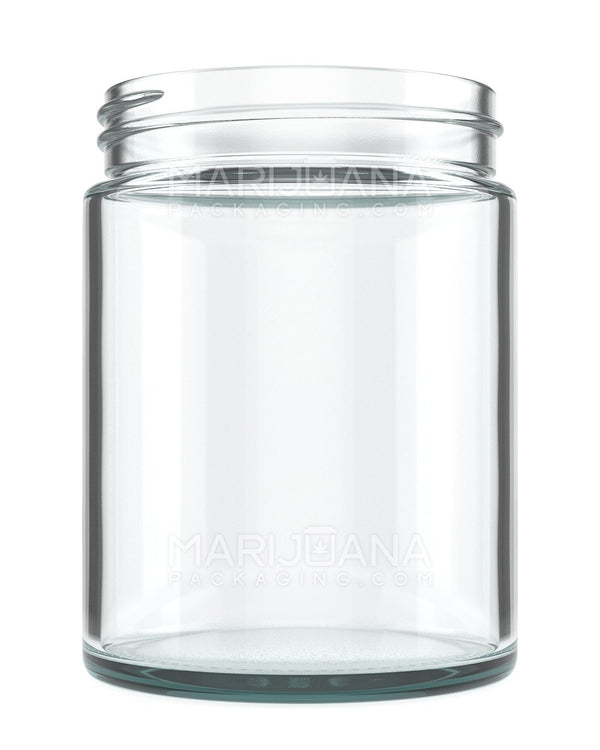 Straight Sided Glass Jars | 80mm - 18oz - 24 Count | Dispensary Supply | Marijuana Packaging