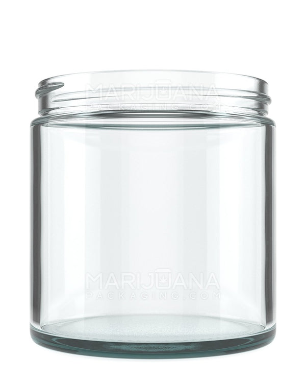 Straight Sided Glass Jars | 89mm - 16oz - 12 Count | Dispensary Supply | Marijuana Packaging