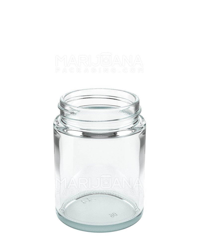 Straight Sided Glass Jars with Black Cap | 53mm - 4oz - 120 Count | Dispensary Supply | Marijuana Packaging