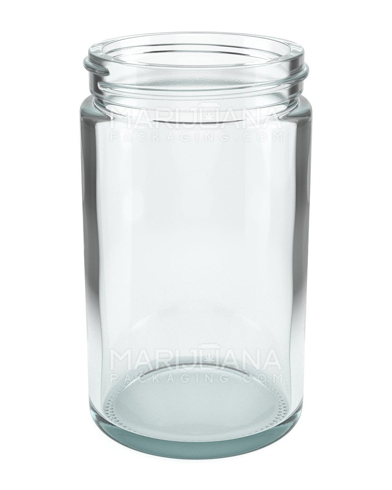 Straight Sided Glass Jars with Black Cap | 63mm - 10oz - 36 Count | Dispensary Supply | Marijuana Packaging