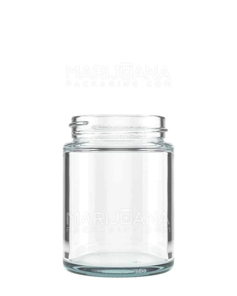Straight Sided Glass Jars with White Cap | 53mm - 4oz - 120 Count | Dispensary Supply | Marijuana Packaging