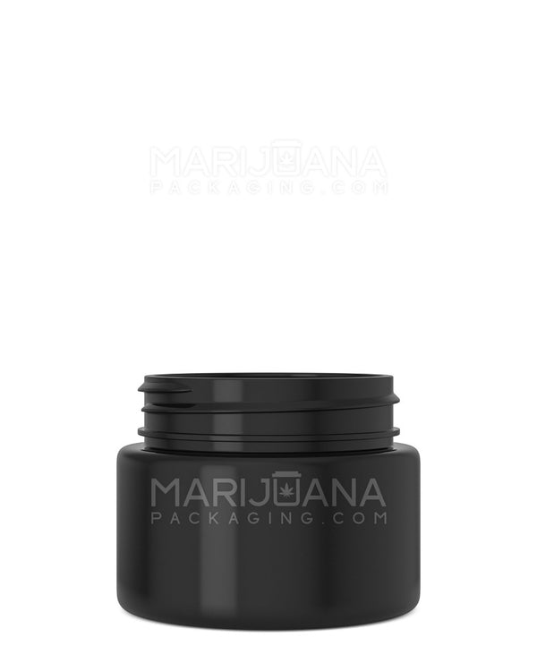 Straight Sided Symmetric Black Plastic Jars | 53mm - 2.5oz - 600 Count | Dispensary Supply | Marijuana Packaging