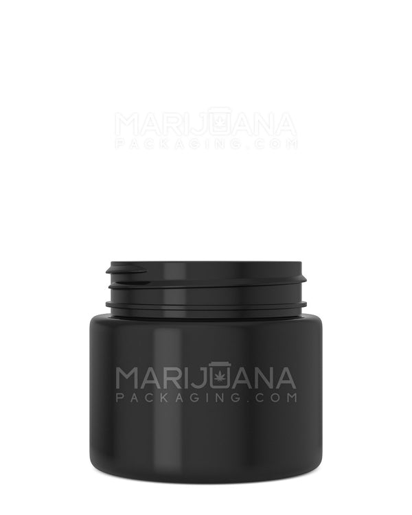 Straight Sided Symmetric Black Plastic Jars | 53mm - 3.75oz - 600 Count | Dispensary Supply | Marijuana Packaging