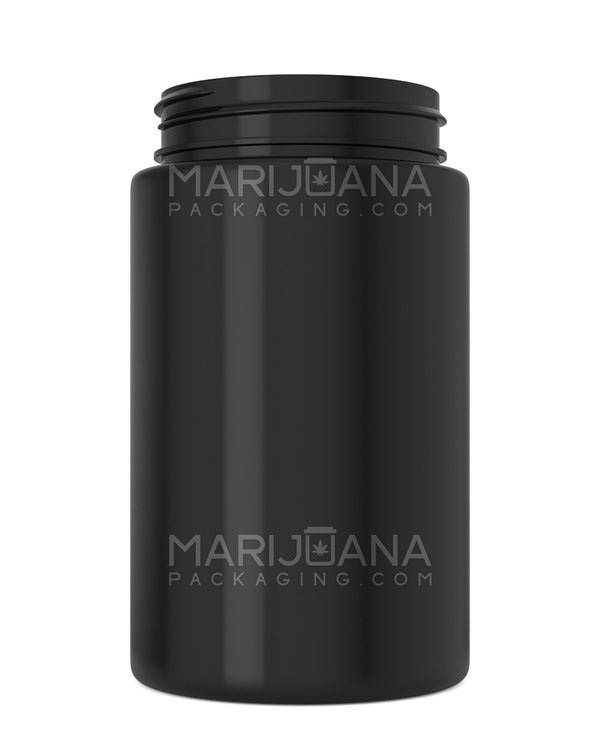 Straight Sided Symmetric Black Plastic Jars | 53mm - 7.5oz - 300 Count | Dispensary Supply | Marijuana Packaging