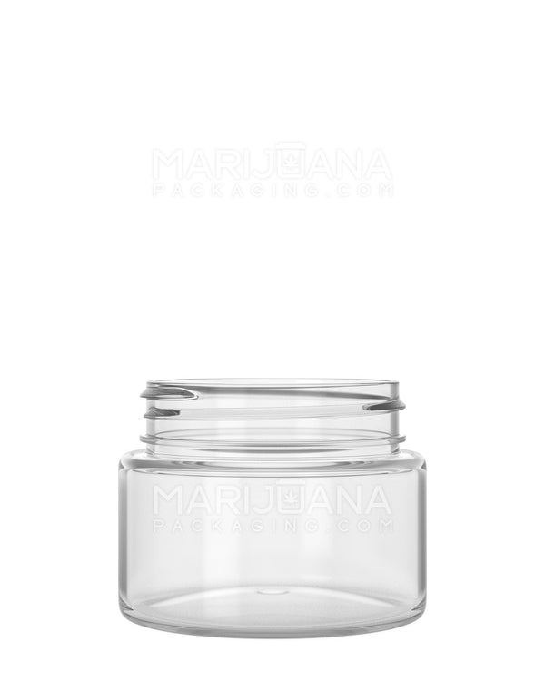 Straight Sided Symmetric Clear Plastic Jars | 53mm - 2.5oz - 600 Count | Dispensary Supply | Marijuana Packaging