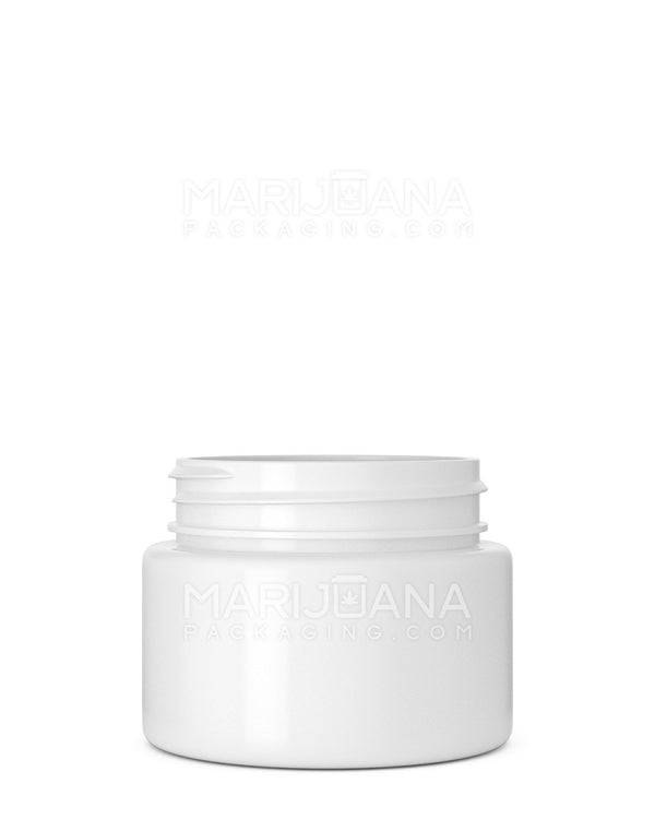 Straight Sided Symmetric White Plastic Jars | 53mm - 2.5oz - 600 Count | Dispensary Supply | Marijuana Packaging