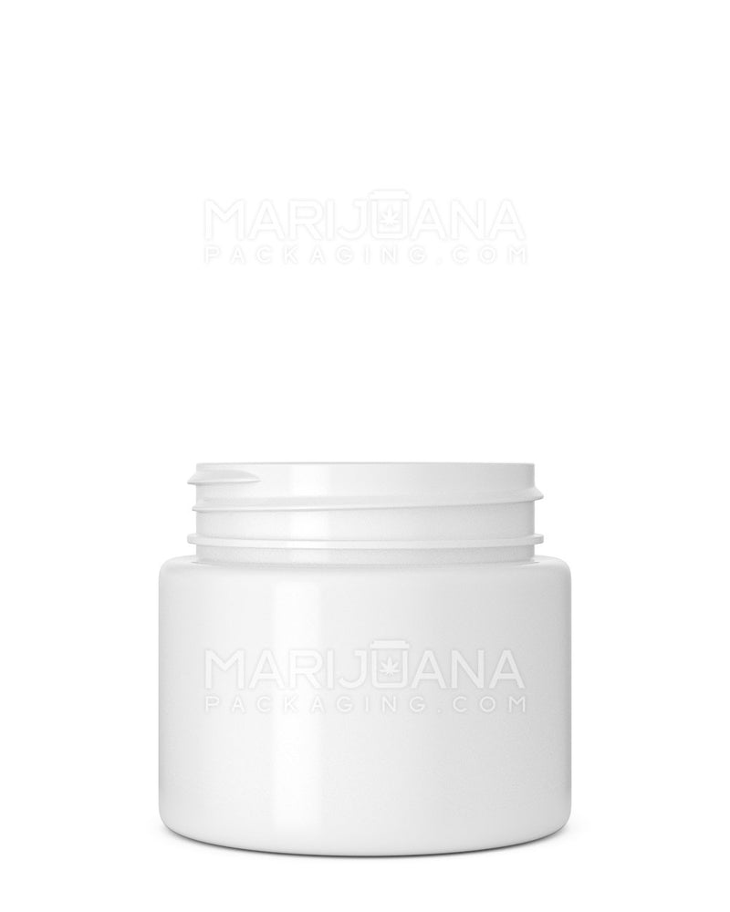 Straight Sided Symmetric White Plastic Jars | 53mm - 3.75oz - 600 Count | Dispensary Supply | Marijuana Packaging
