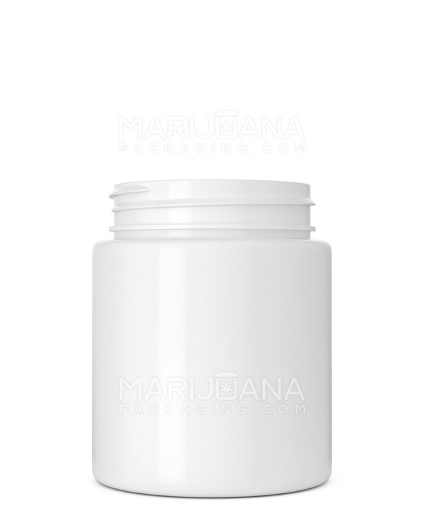Straight Sided Symmetric White Plastic Jars | 53mm - 5oz - 600 Count | Dispensary Supply | Marijuana Packaging