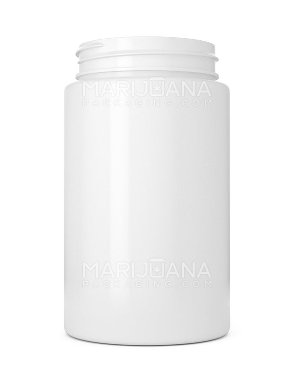 Straight Sided Symmetric White Plastic Jars | 53mm - 7.5oz - 300 Count | Dispensary Supply | Marijuana Packaging