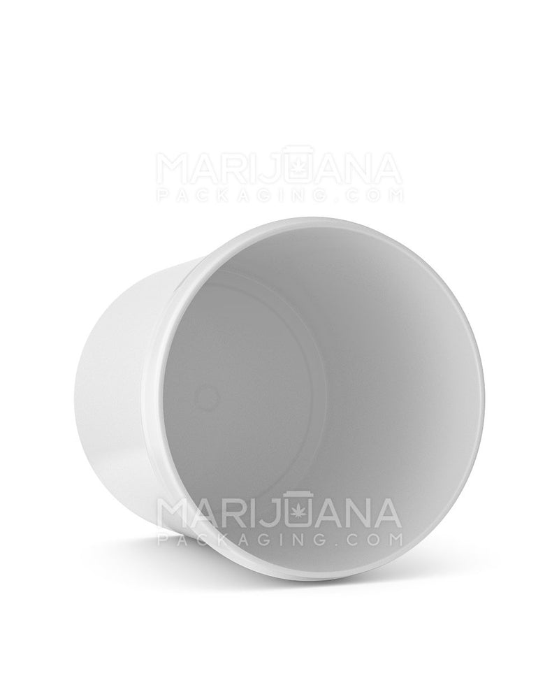 Straight Sided White Plastic Jars | 89mm - 16oz - 205 Count | Dispensary Supply | Marijuana Packaging
