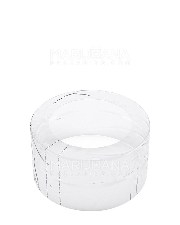Tamper Evident | Glass Jar Shrink Bands | 8oz - Clear Plastic - 1000 Count | Dispensary Supply | Marijuana Packaging