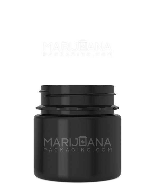 Tamper Evident | Straight Sided Black Plastic Jars | 53mm - 3.75oz - 600 Count | | Marijuana Packaging