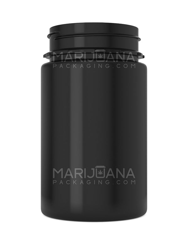 Tamper Evident | Straight Sided Black Plastic Jars | 53mm - 7.5oz - 300 Count | Dispensary Supply | Marijuana Packaging