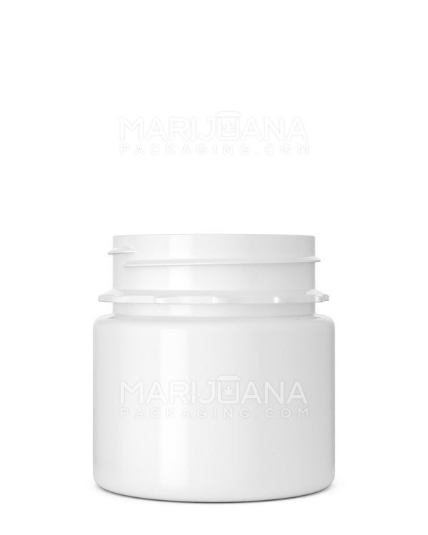 Tamper Evident | Straight Sided White Plastic Jars | 53mm - 3.75oz - 600 Count | Dispensary Supply | Marijuana Packaging