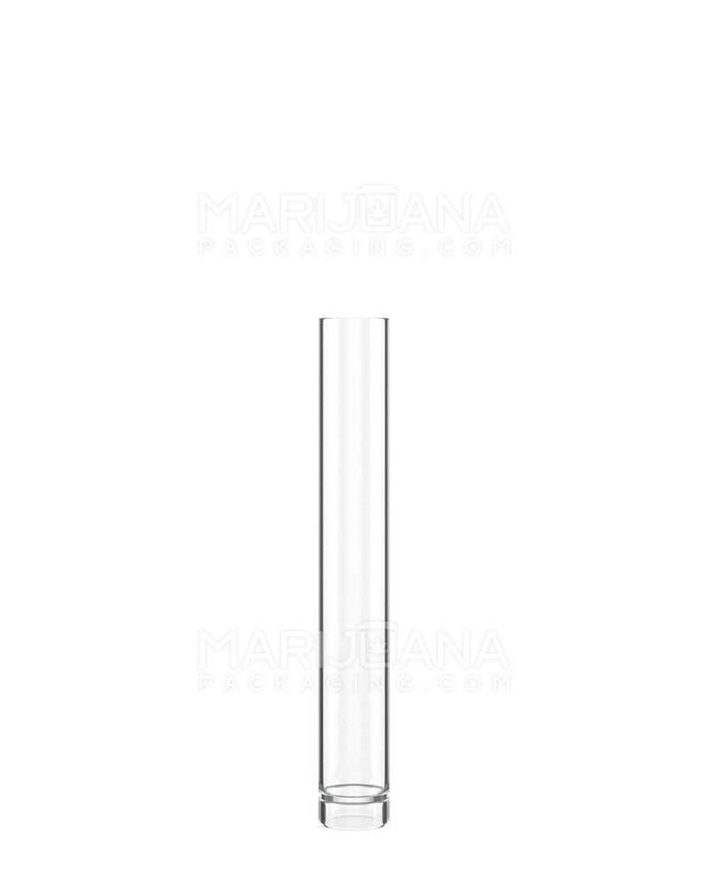 Vape Cartridge Storage Tube & Black Cap | 86mm - Clear Plastic - 500 Count | Dispensary Supply | Marijuana Packaging