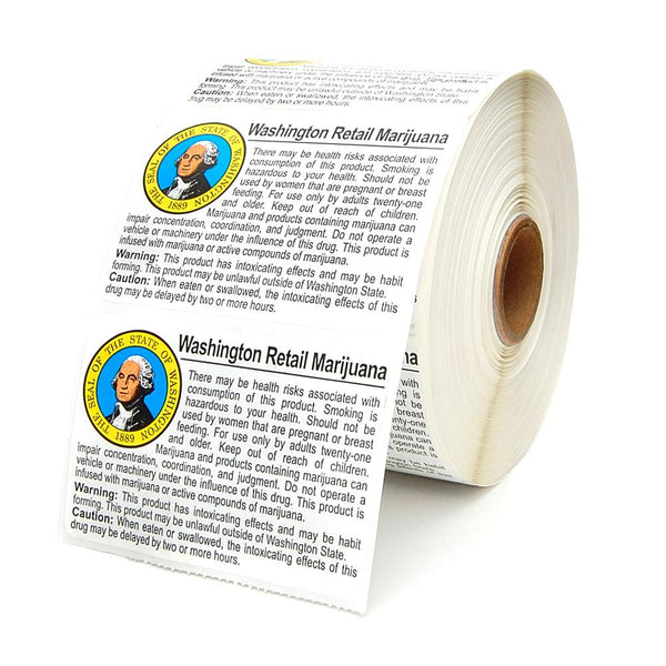 Washington Marijuana Labels - 1 Roll