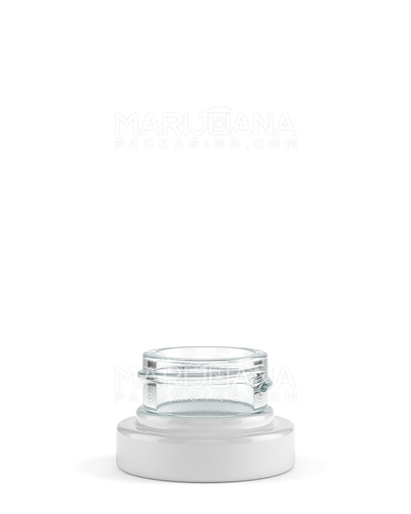 White Glass Concentrate Containers | 28mm - 5ml - 400 Count | Smoke Shop Supply | Marijuana Packaging