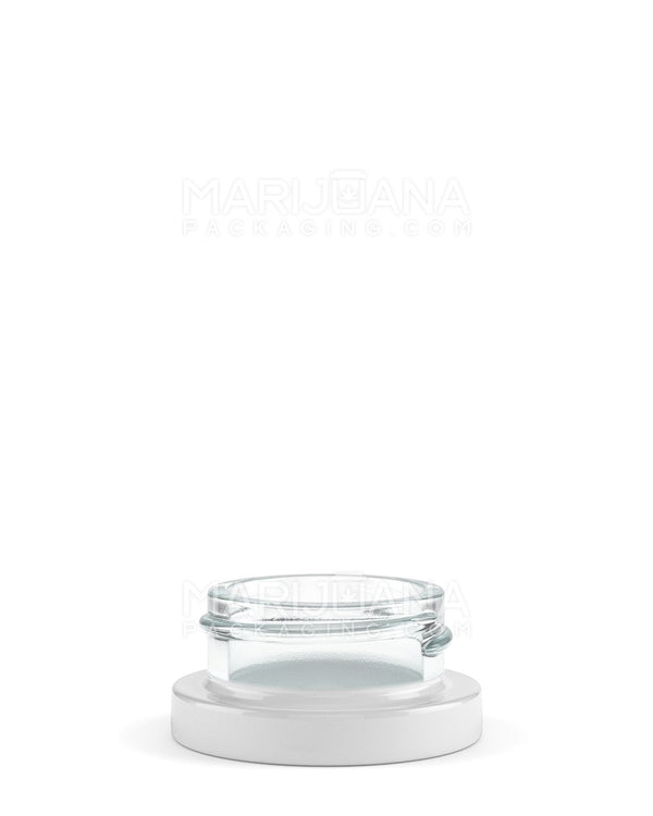 White Glass Concentrate Containers | 38mm - 9ml - 320 Count | Dispensary Supply | Marijuana Packaging