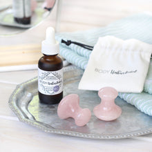 Load image into Gallery viewer, Rose Quartz Gua Sha Shrooms (set of 2)